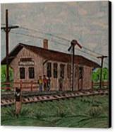 Monon Ellettsville Indiana Train Depot Canvas Print