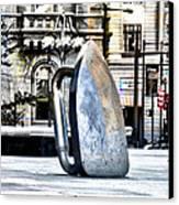 Monopoly Iron Statue In Philadelphia Canvas Print