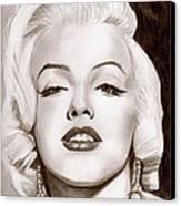 Monroe Canvas Print by Michael Mestas