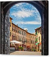 Montalcino Loggia Canvas Print