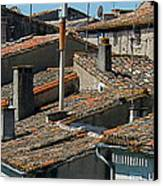 Tile Rooftops Of France Canvas Print