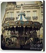 Montpellier Carousel Canvas Print