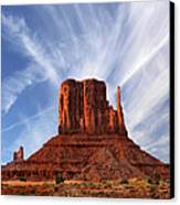Monument Valley - Left Mitten 2 Canvas Print by Mike McGlothlen