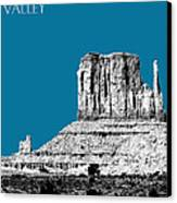 Monument Valley - Steel Canvas Print by DB Artist