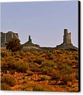 Monument Valley - Unusual Landscape Canvas Print by Christine Till