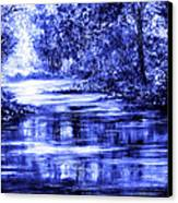 Moody Blue Canvas Print by Ann Marie Bone
