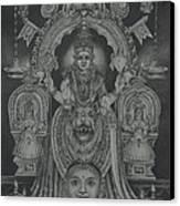 Mookambika Devi Canvas Print by Asha Sasikumar