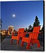 Moon Chairs Canvas Print by Dan Quam