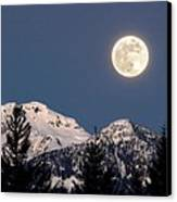 Moon Glow Whistler Canada Canvas Print by Pierre Leclerc Photography