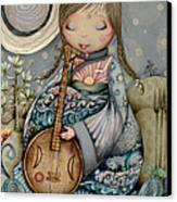 Moon Guitar Canvas Print by Karin Taylor