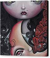 Moon Keeper Canvas Print by  Abril Andrade Griffith