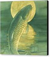 Moon Koi Canvas Print by Robert Hooper