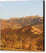 Moon Over Cimarron Canvas Print by Eric Glaser