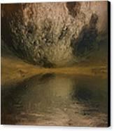 Moon Over Ocean Canvas Print by Ayse Deniz