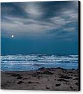 Moon Over The Gulf Canvas Print by Tammy Smith