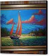 Moonlight Harbor Canvas Print
