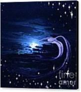 Moonlight Swim Canvas Print by Jacquelyn Roberts