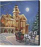 Moonlight Travelers Canvas Print by Richard De Wolfe