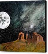Moonrise Over Sedona Canvas Print
