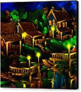 Moonshine Lake - Scratch Art Series - # 26 Canvas Print by Steven Lebron Langston
