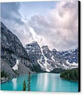 Moraine Cloud Burst Canvas Print by Jon Glaser
