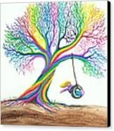More Rainbow Tree Dreams Canvas Print by Nick Gustafson