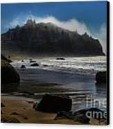 Morning Fog Burn Canvas Print by Adam Jewell