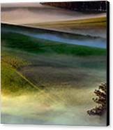 Morning Fog Over Two Rock Valley Diptych Canvas Print