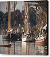 Morning Light - Chestertown Downrigging Weekend Canvas Print by Lauren Brice