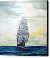 Morning Light On The Atlantic Canvas Print
