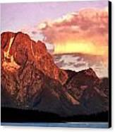 Morning Light On The Tetons Canvas Print