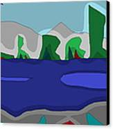 Morning On The Fraser River Near Maple Ridge Canvas Print