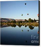 Morning On The Yakima River Canvas Print by Carol Groenen