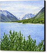 Morning Sun On Kenai Lake Canvas Print by Sharon Freeman