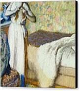 Morning Toilet Canvas Print