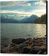 Mornings At Lake Mcdonald Canvas Print by Stuart Deacon