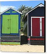 Mornington Beachboxes Canvas Print by Rachael Curry