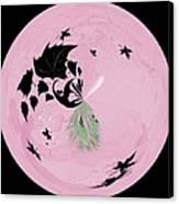 Morphed Art Globe 10 Canvas Print by Rhonda Barrett