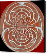 Morphed Art Globes 17 Canvas Print by Rhonda Barrett