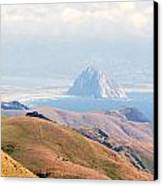 Morro Bay Rock Vista Overlooking Highway 46 Paso Robles California Canvas Print by Artist and Photographer Laura Wrede