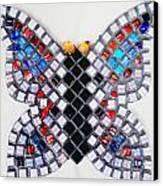 Mosaic Butterfly Canvas Print by Lisa Brandel