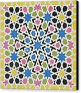 Mosaic Design From The Alhambra Canvas Print by James Cavanagh Murphy