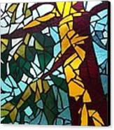 Mosaic Stained Glass - First Tree Canvas Print by Catherine Van Der Woerd