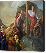 Moses And The Brazen Serpent - Biblical Stories Canvas Print