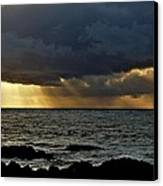 Moss Beach Sunset Storm Canvas Print by Elery Oxford