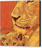 Mother And Cub Canvas Print