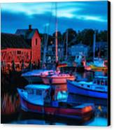 Motif No 1 Rockport Massachusetts Canvas Print by Thomas Schoeller