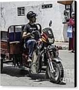 Motorbike Marocco Canvas Print