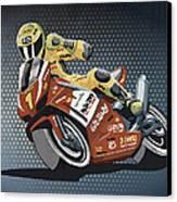 Motorbike Racing Grunge Color Canvas Print