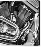 Motorcycle Close-up Bw 1 Canvas Print